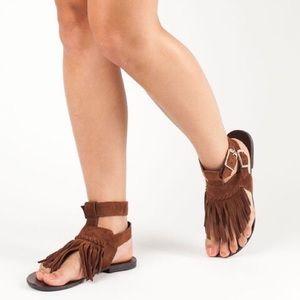 Steve Madden Lexee Fringe Suede Sandals